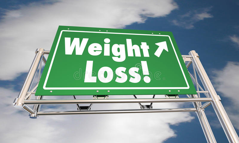 减重饮食丢失肥胖路高速公路标志 皇族释放例证