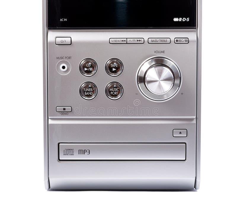 紧凑立体音响系统cd和卡式磁带播放机 免版税库存照片