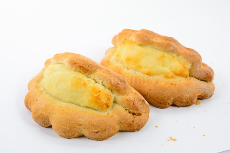 凝乳甜点鲜美面包店的蛋糕 免版税图库摄影