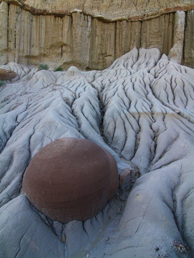 凝固物,西奥多・罗斯福国家公园,北达科他 免版税图库摄影