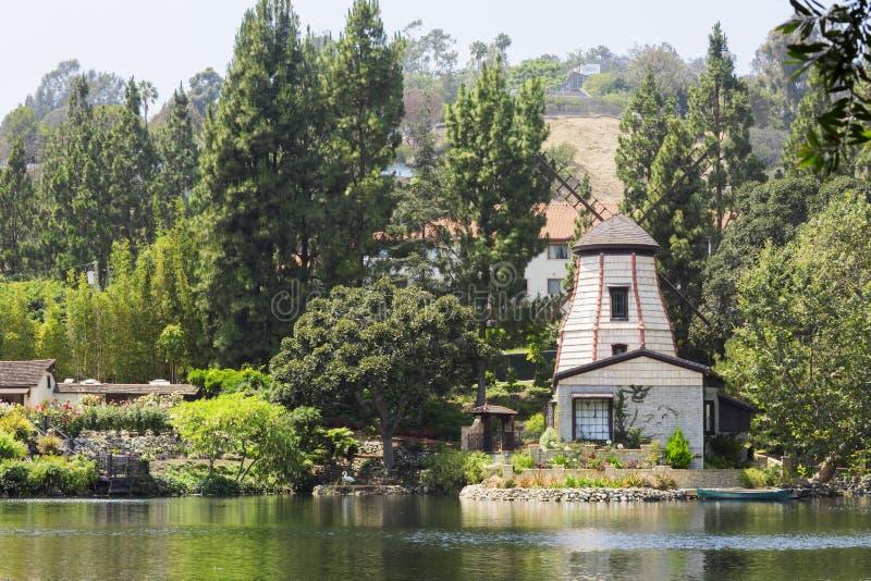 凝思庭院在圣塔蒙尼卡,美国 免版税库存照片