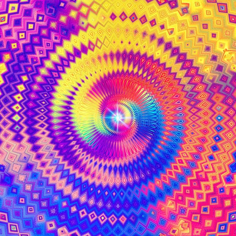 凝思精神抽象五颜六色的设计 皇族释放例证