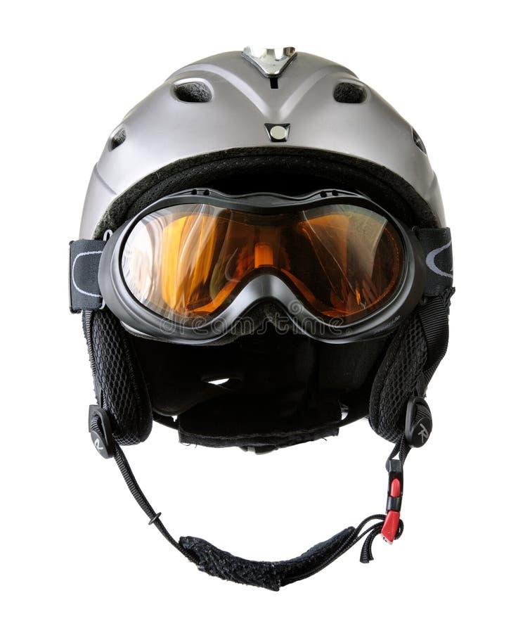 凝视盔甲滑雪者 库存图片