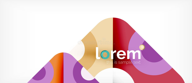 几何五颜六色的形状构成抽象背景 最小的动态设计 库存例证