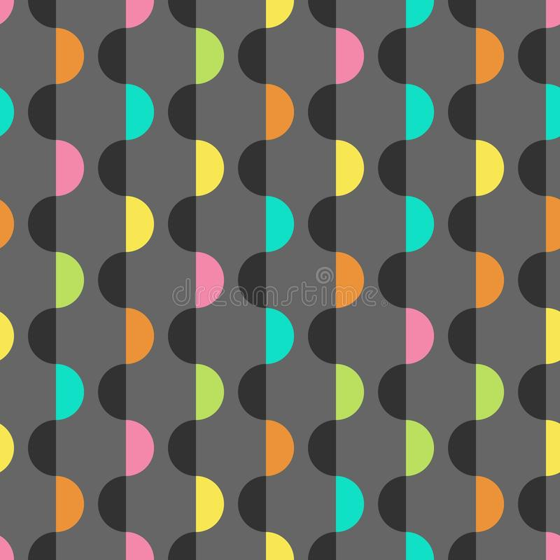 几何五颜六色的背景设计模板 向量例证