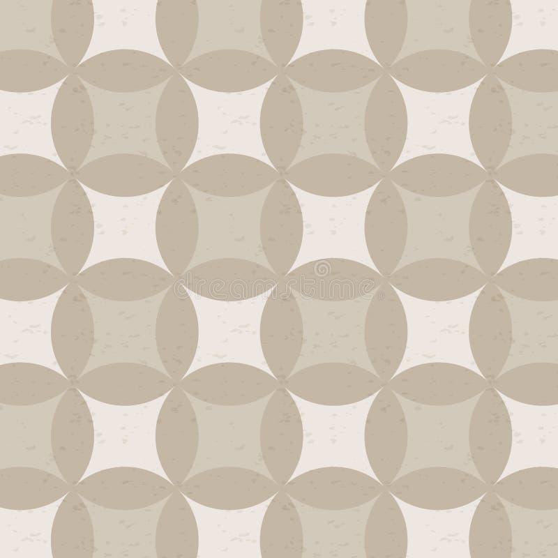 几何传染媒介样式,重复与抽象星的圈子十字架其中每一个在中心 向量例证