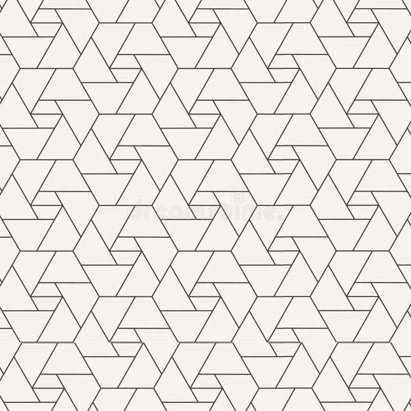 几何传染媒介样式,重复在六角形形状的五边形 向量例证