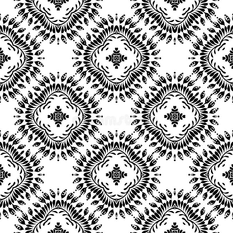 几何传染媒介黑白色样式的设计 向量例证
