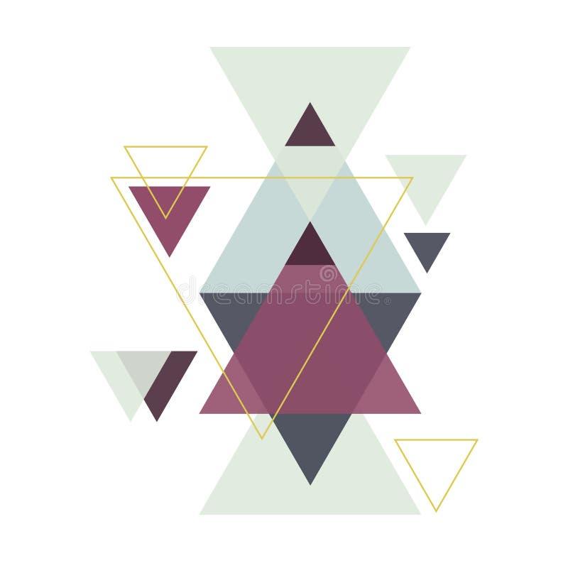 几何例证-菱形,三角 皇族释放例证
