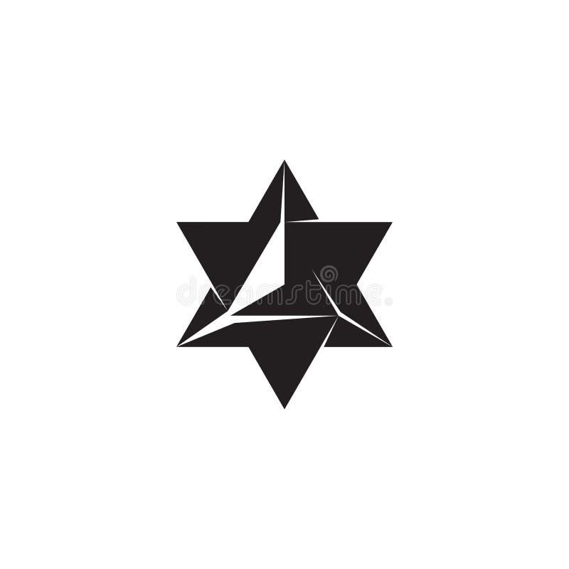 几何元素,星设计 向量例证