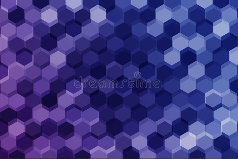 几何六角形背景 免版税库存照片