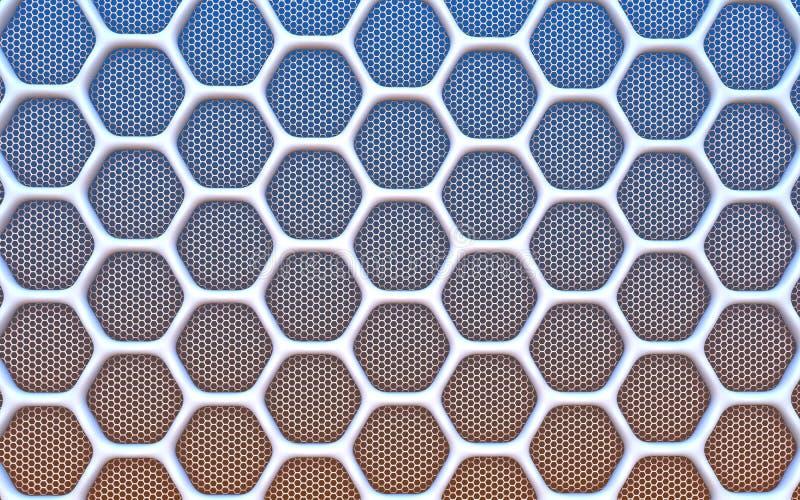 几何六角抽象背景 皇族释放例证