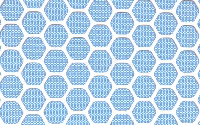 几何六角抽象背景 向量例证