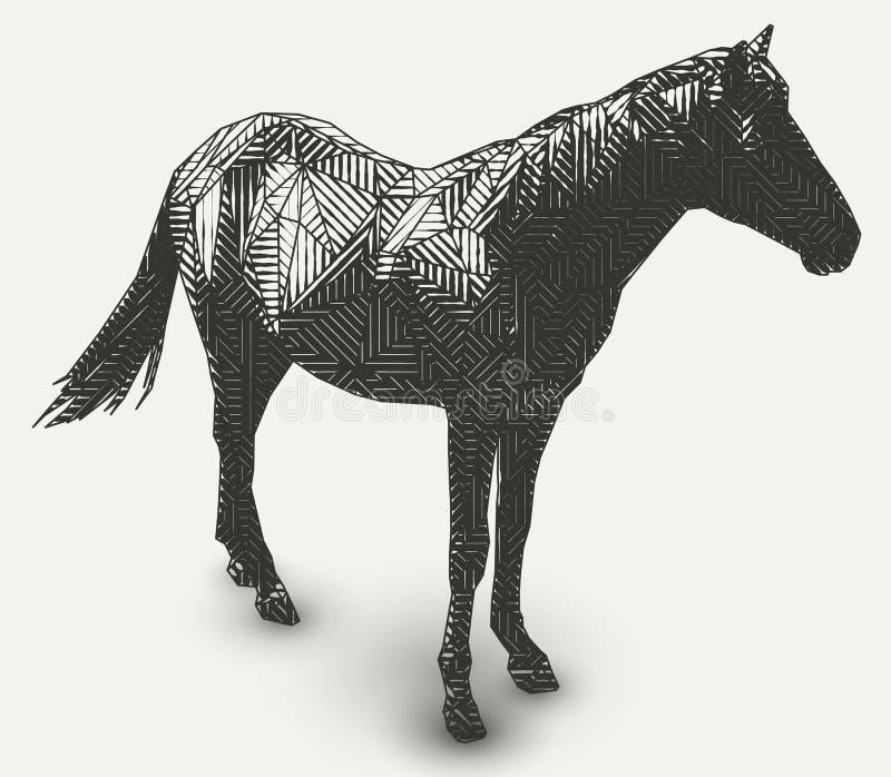 几何动物图画 皇族释放例证