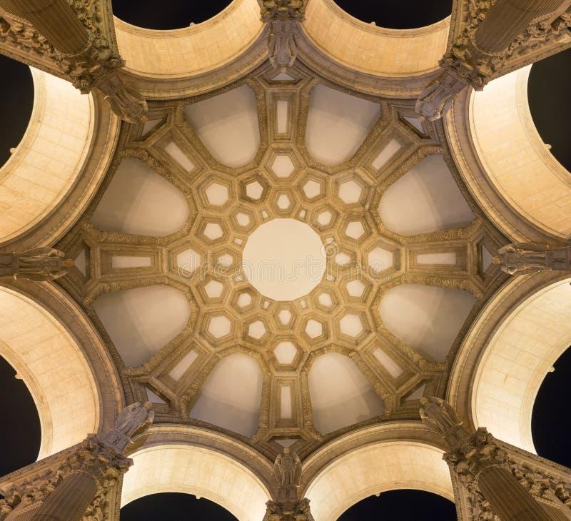 几何半球形的天花板 库存图片