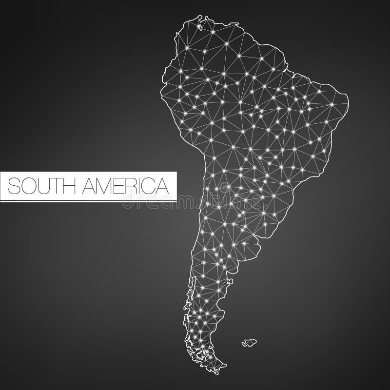 几何南美大陆,黑暗的版本,清洗设计,容易定做模板 向量例证