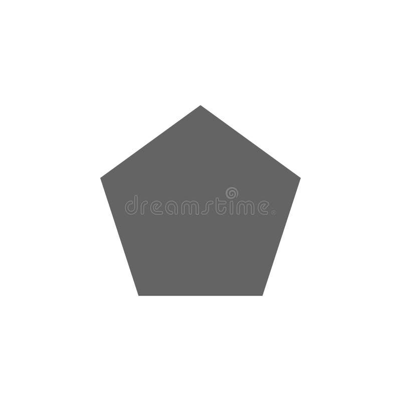 几何图,五边形象 几何图例证象的元素 E 皇族释放例证