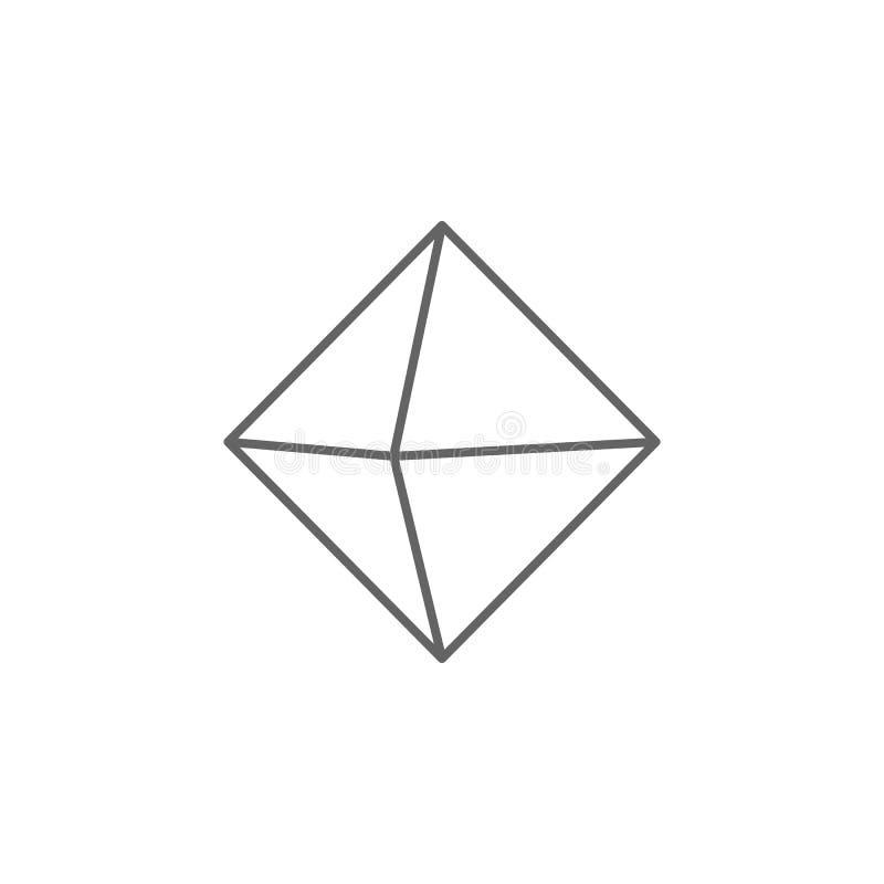 几何图,八面体概述象 r 标志和标志可以为网使用 库存例证