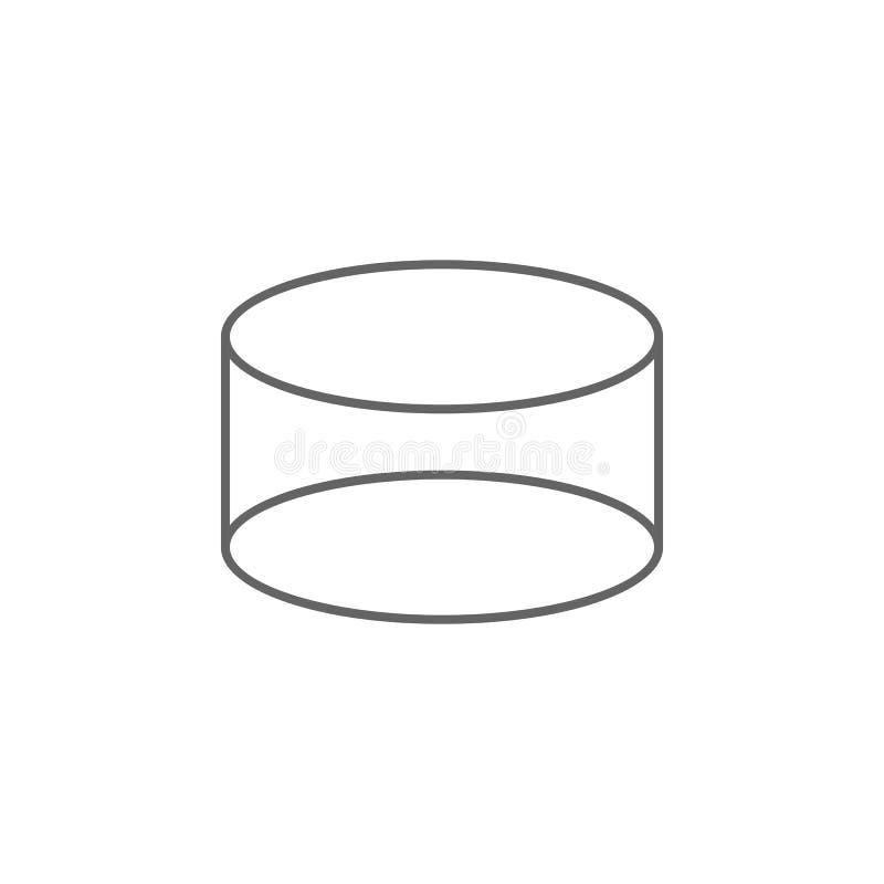 几何图,圆筒概述象 r 标志和标志可以为网使用, 库存例证