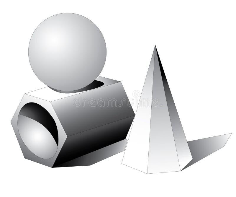 几何图 免版税库存图片