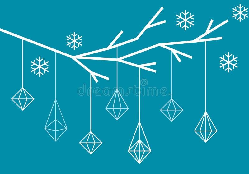 几何圣诞树,传染媒介 皇族释放例证