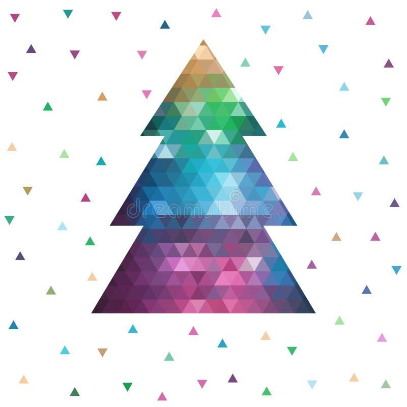 几何圣诞树 皇族释放例证