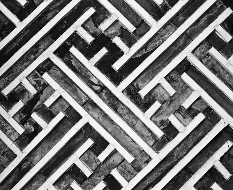 几何墙壁模式 免版税库存图片