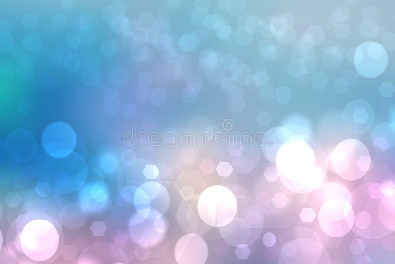 几何多角形背景 与几何五边形或一个抽象幻想的摘要梯度蓝色桃红色背景纹理 库存例证