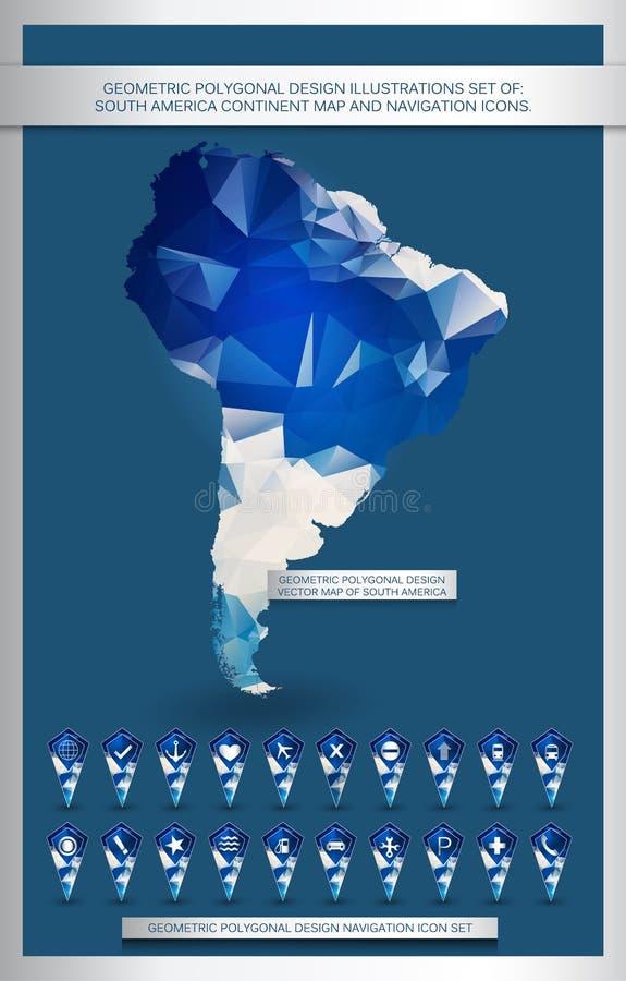 几何多角形设计例证被设置南美 皇族释放例证