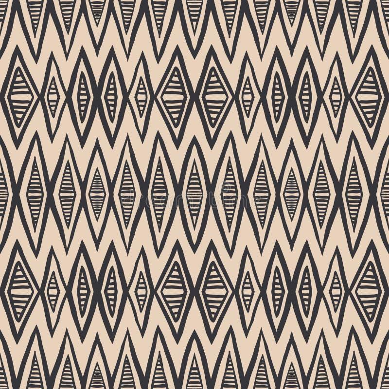 几何大胆的模式,艺术装饰样式 向量例证