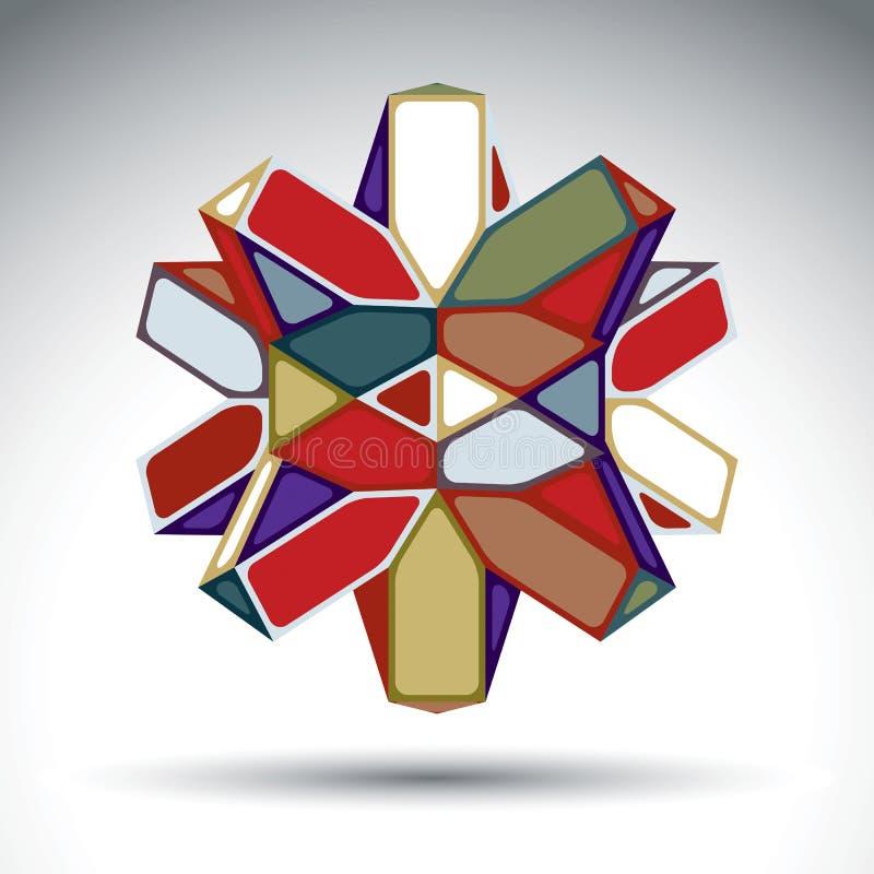 几何富有的3d摘要的形象修建从三角和 向量例证