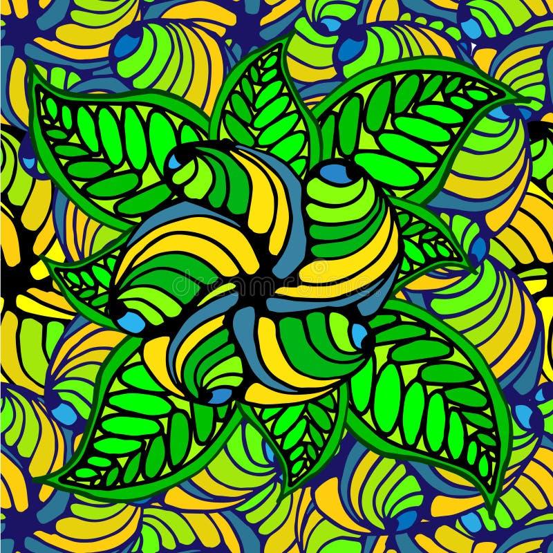几何形状和线抽象背景  皇族释放例证