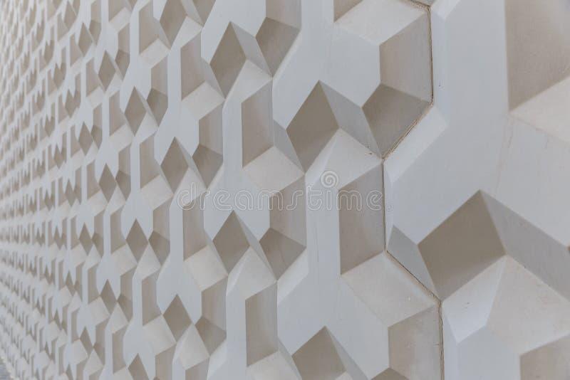 几何形状墙壁的纹理  免版税库存照片