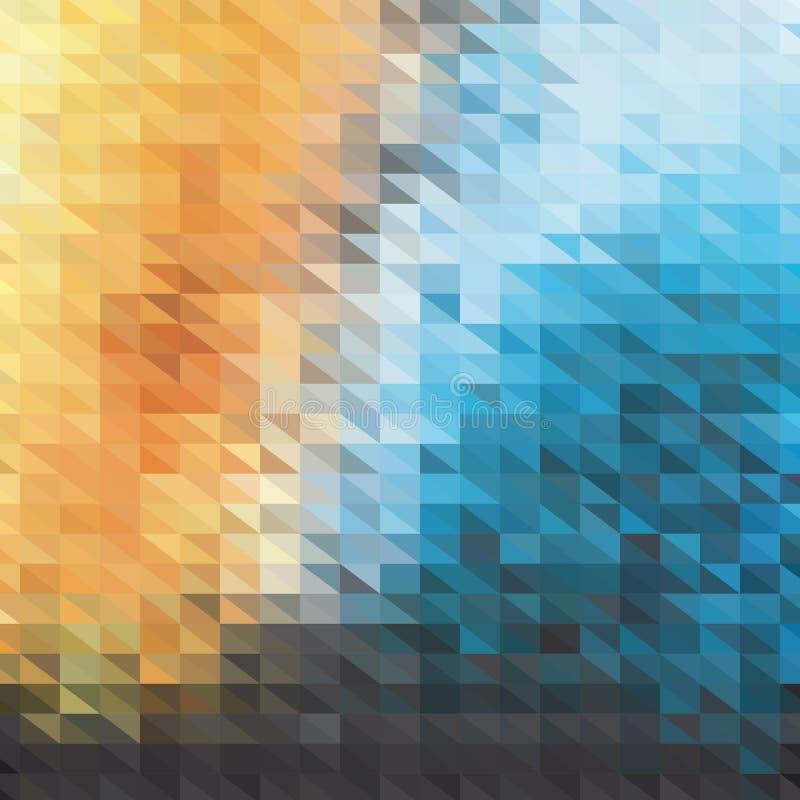 几何形状的减速火箭的样式 五颜六色的马赛克横幅 几何与地方的行家减速火箭的背景您的文本的 r 皇族释放例证