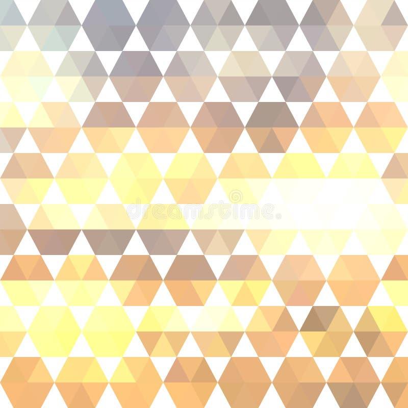 几何形状的减速火箭的样式 免版税库存图片