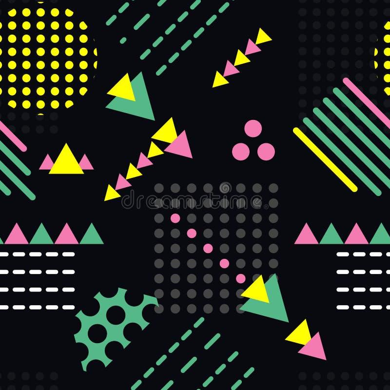 几何形状的抽象无缝的样式 库存例证