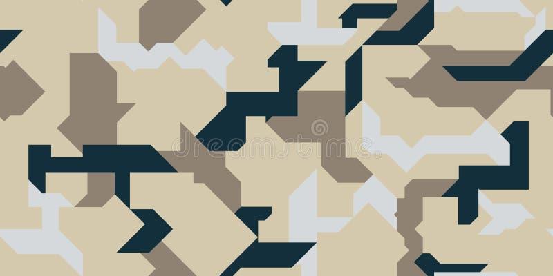 几何形状的样式军队衣物、武器或者vechicles的 库存图片