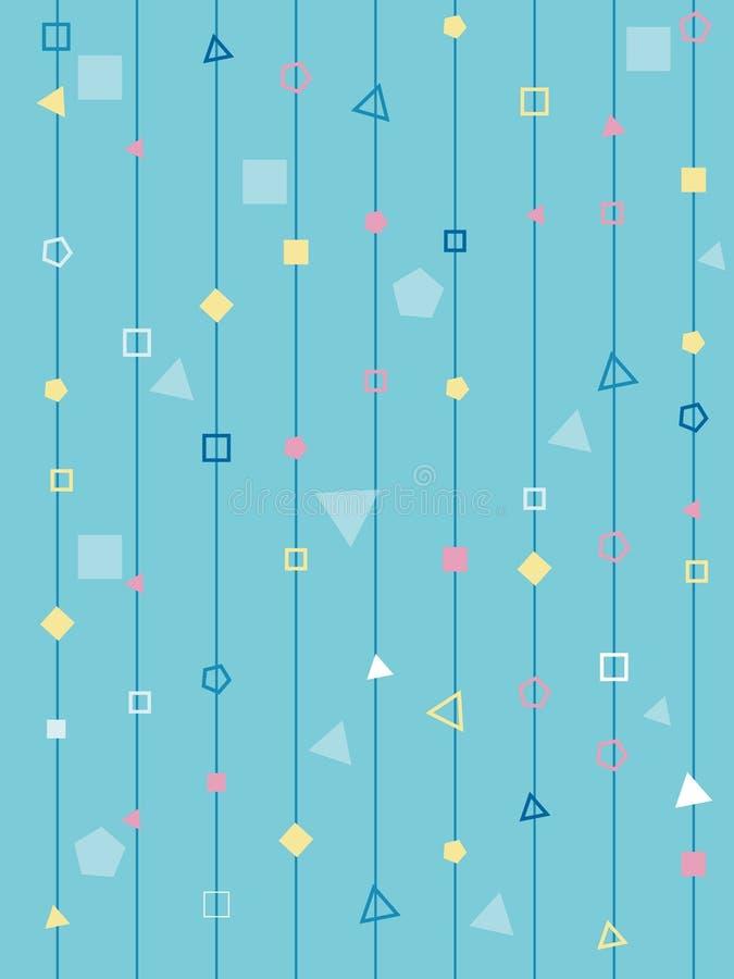 几何形状线多角形蓝色单纯化的背景 向量例证