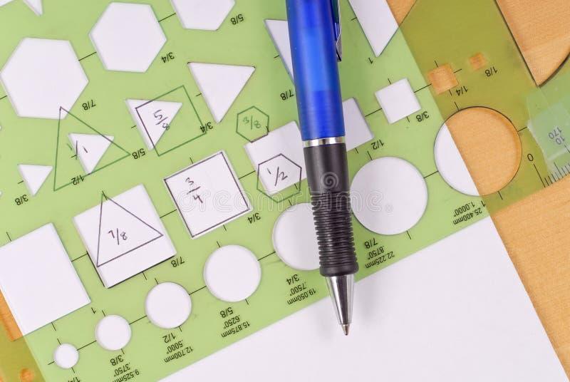 几何形状钢板蜡纸 免版税库存图片