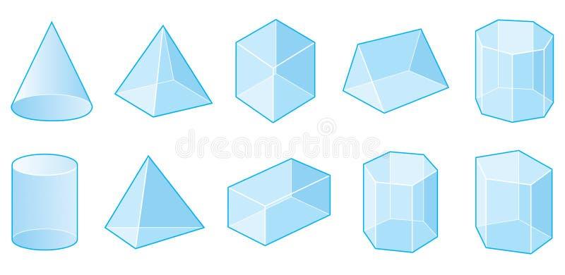 几何形状 向量例证