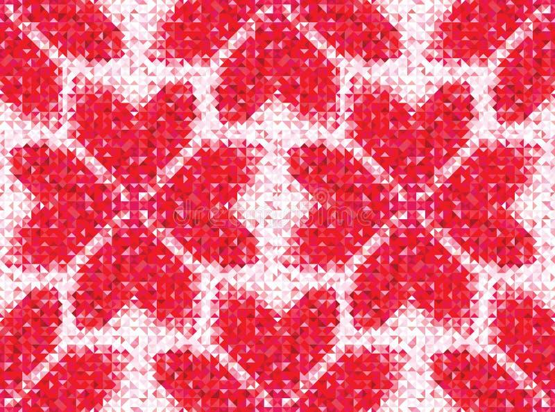 几何心脏的无缝的爱样式 皇族释放例证