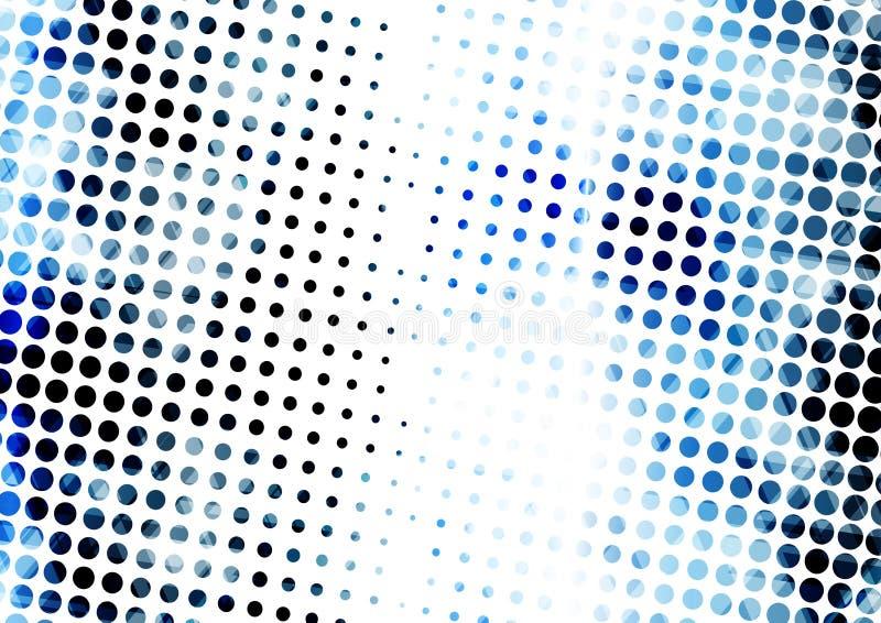 几何技术数字式抽象现代蓝色中间影调 皇族释放例证