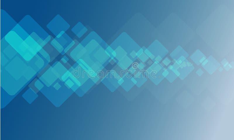 几何技术纹理有蓝色背景 皇族释放例证