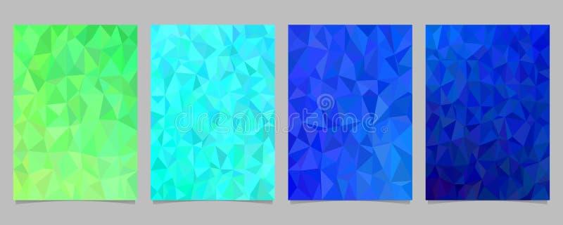 几何抽象不规则的三角马赛克盖子模板设置了-导航小册子背景设计汇集 库存例证