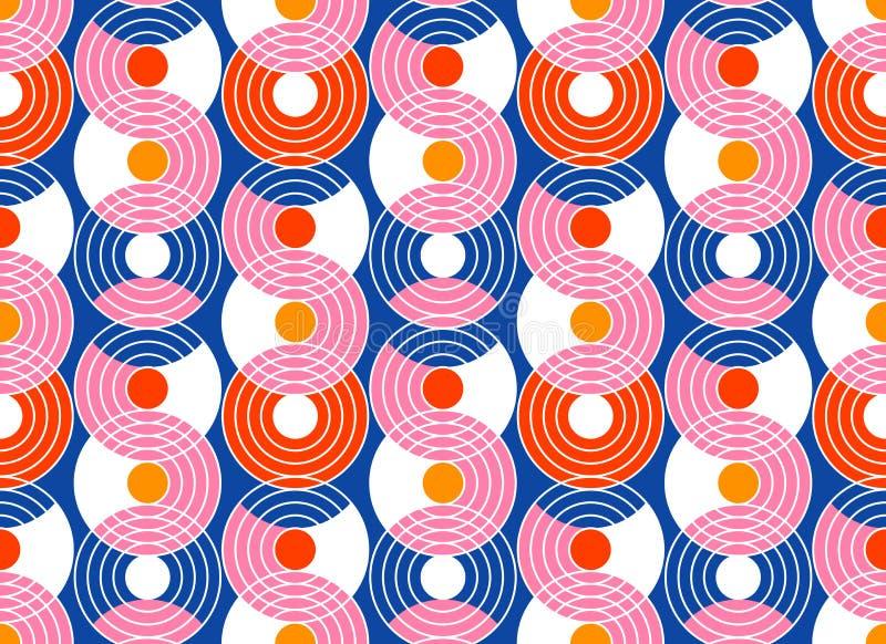 几何抽象无缝的样式背景 五颜六色的形状 向量例证