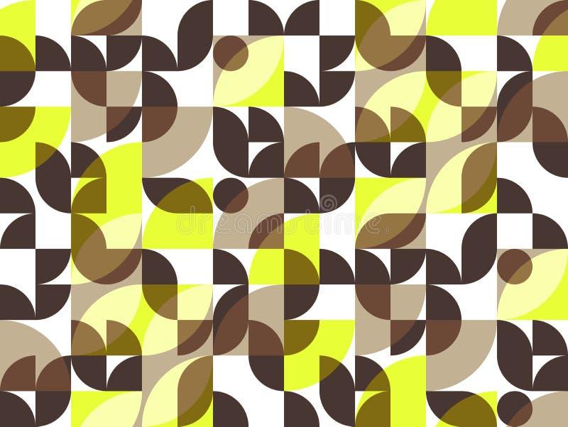 几何抽象无缝的样式主题背景 五颜六色的s 皇族释放例证