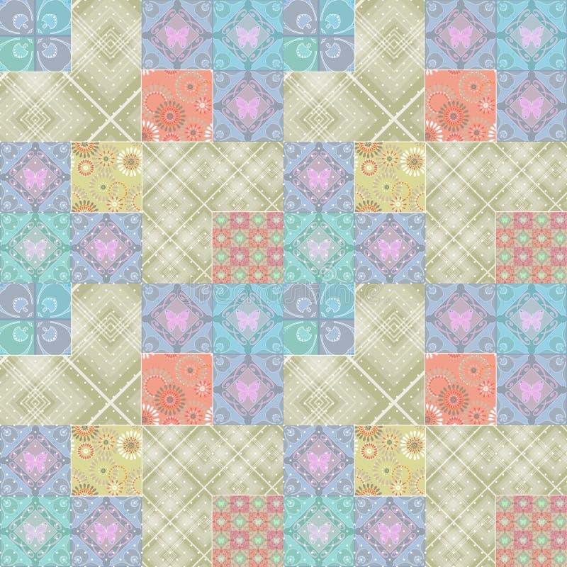 几何抽象明亮的元素无缝的样式 库存例证