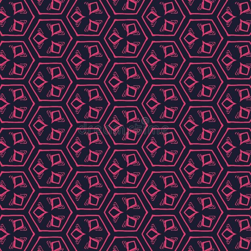 几何抽象样式背景和纹理 皇族释放例证