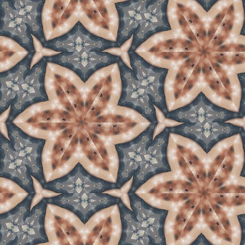 几何抽象桔子,红色,黑色,金子,与计算机控制学的微粒的蓝色,灰色数字背景 皇族释放例证