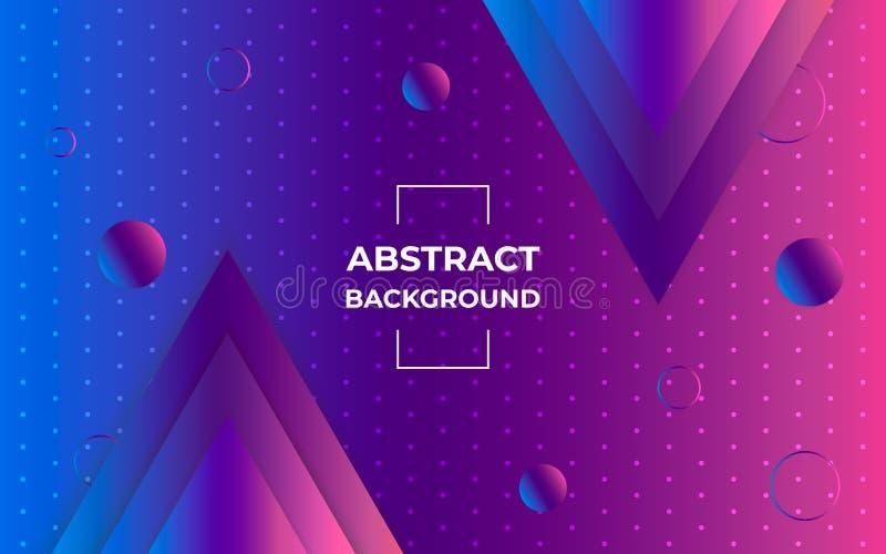 几何抽象的背景 与梯度三角和圈子形状的现代样式 最小的图形设计 皇族释放例证